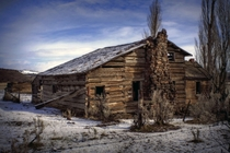 Abandoned Wood Home near Post Oregon  by Michael Kinnaman