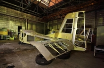 Abandoned workshop of the design bureau of the Moscow Aviation Institute