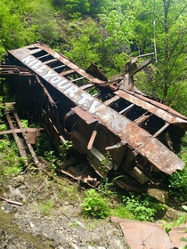 Abandoned Wrecked Train from the movie Ring of Fire - Wynoochee WA