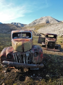 Abandoned WW-era vehicles hundreds of kilometres from the nearest town CANOL Trail NWT Canada