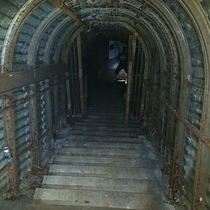 Abandoned ww tunnels in Sussex UK used as part of the D-DAY landing operation
