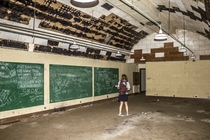 Abandoned WWII Underground Bunker in Hawaii Some writing on chalkboards were from the s