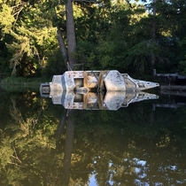 Abandoned yacht with some cool reflections