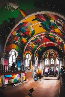Abandoned -Year-Old Church Transformed Into A Graffiti Themed Skate Park