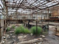 Abandonedstripped building in the middle of a chemical plant in Ohio