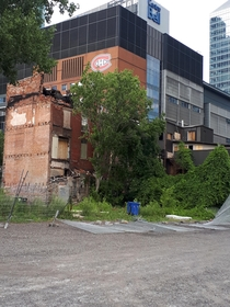 Abandonned blocks near downtown Montreal