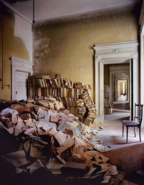 Abandonned library in Napoli Italy