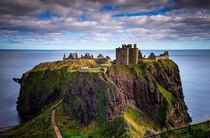 Abondoned Dunnottar Castle in Stonehaven Scotland
