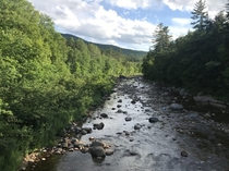 About a  min walk from my camp site White Mountain National Forest Stoneham Maine