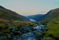 About a week ago I saw a wintery picture of Glendalough Ireland Here it is in Autumn