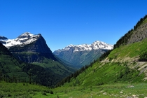 About two more months until Going-to-the-sun Road in Glacier National Park will be fully plowed for the season and we can get more views like this July