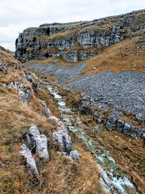 Above Goredale scar West Yorkshire UK