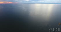 Above Mobile Bay at sunset Fairhope AL