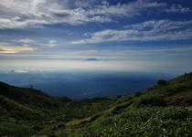 Above the clouds at Mount Merbabu Yogyakarta Indonesia