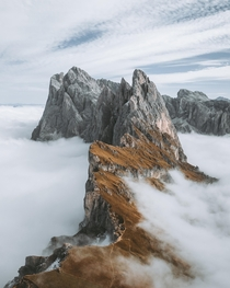 Above the clouds at Seceda Italy   IG edgeobject