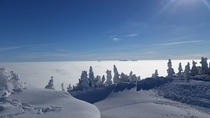 Above the clouds at Smugglers Notch Vermont
