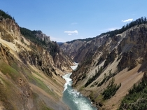 Above the Lower Falls of the Yellowstone River