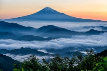 Above the sea of clouds - Mount Fuji Japan  photo by Hidetoshi Kikuchi