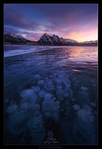 Abraham Lake Canada - To the Right - by Justin Grimm