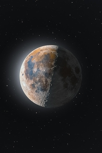 Absolutely amazing Composite Image of a Waning Moon - Credit to uDomCraggoo