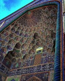 Absolutely Gorgeous Entrance Ceiling Lotfollah MosqueIsfahan Iran