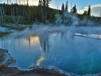 Abyss pool in Yellowstone NP