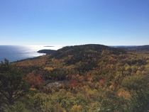 Acadia National Park Maine during peak foliage