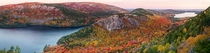 Acadia National Park Maine in Peak Fall Foliage   resized from gigapixel panorama