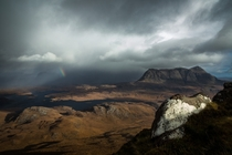 Across Assynt - looking out over the Scottish Highlands  by Duncan Fawkes