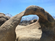 Actual Mt Whitney through the Mobius Arch  OC