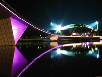 Adelaide Oval footbridge and stadium