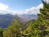 Adirondack Great Range from Giant Mountain south slope