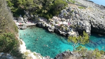 Adriatic Sea in Castro Apulia Italy