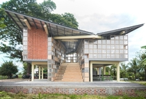 Adventurous Global School Sneung Cambodia designed by Orient Occident Atelier in