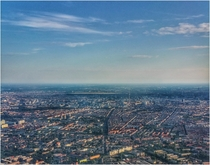 Aerial Berlin from a hot air balloon
