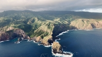 Aerial Glimpse of the lovely coast of Maui