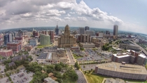 Aerial HDR downtown Buffalo