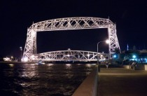 Aerial Lift Bridge at night Duluth MN