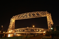 Aerial Lift Bridge at Night - Duluth MN