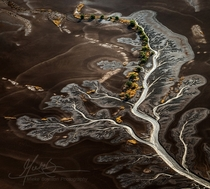 Aerial photo of dry tidal mudflats in the East Kimberley Australia Photo by Mieke Boynton