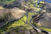 Aerial photo of Iceland by Sarah Martinet