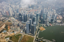 Aerial photography of Singapores downtown