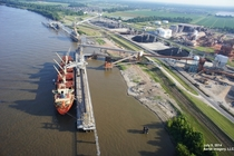 Aerial shot of the Impala Burnside Terminal in Louisiana