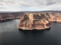 Aerial shot of Utahs Lake Powell