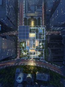 Aerial View of Alibaba Office in Shanghai by Foster Partners
