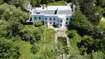 Aerial View of an Abandoned Colonial Style Mansion in Toronto Ontario