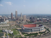 Aerial view of Cleveland Ohio by Aaron A Gormley  Shot on a Canon Powershot GX