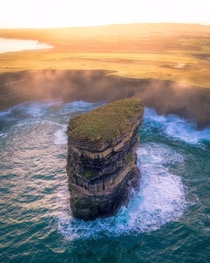 Aerial view of Downpatrick Head Mayo Ireland  x