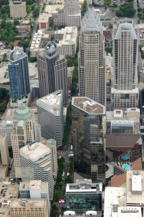 Aerial View of Downtown Charlotte North Carolina