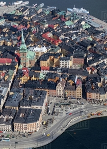Aerial view of Galma stan in Stockholm Sweden the old town of the city Beauty matters